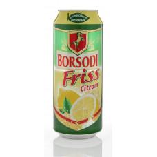 Sör Borsodi Friss 0,5L 1,5% Citromos dob. FIX1